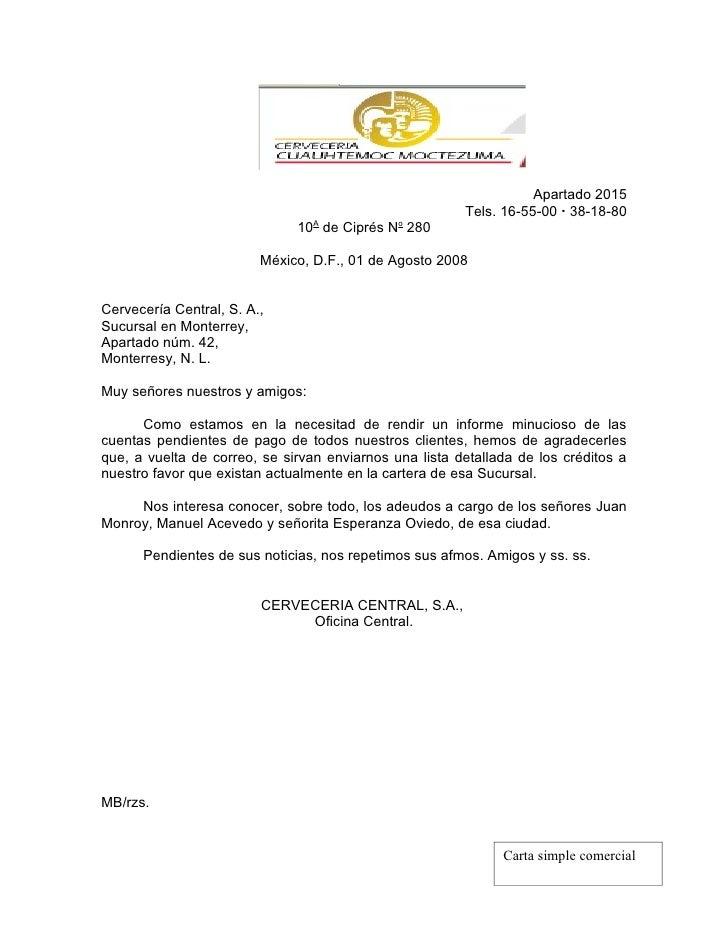 Carta Simple Comercial