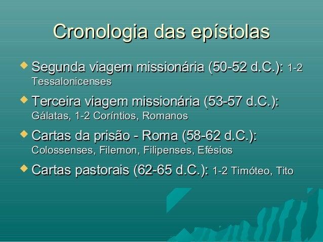  Segunda viagem missionária (50-52 d.C.):Segunda viagem missionária (50-52 d.C.): 1-21-2 TessalonicensesTessalonicenses ...