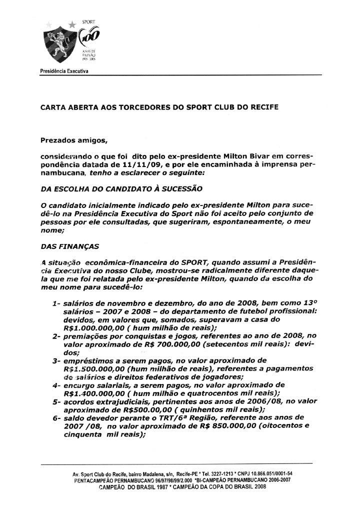 Carta Silvio Guimarães