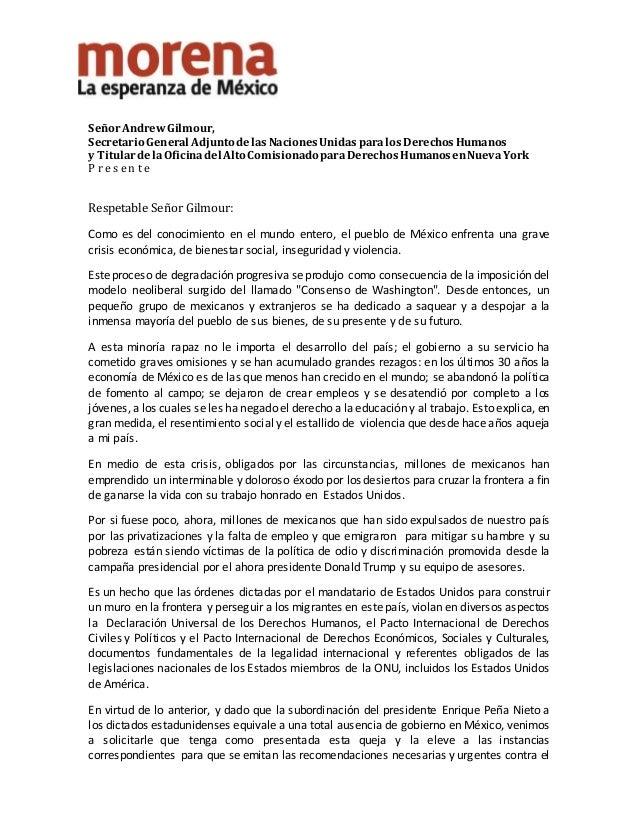 SeñorAndrewGilmour, Secretario General Adjunto delasNaciones UnidasparalosDerechosHumanos y Titulardela Oficinadel Alto Co...