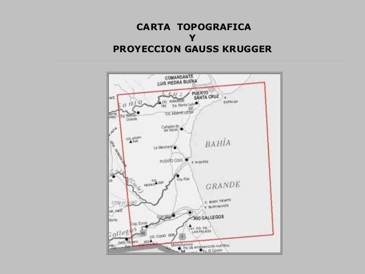 CARTA  TOPOGRAFICA Y  PROYECCION GAUSS KRUGGER