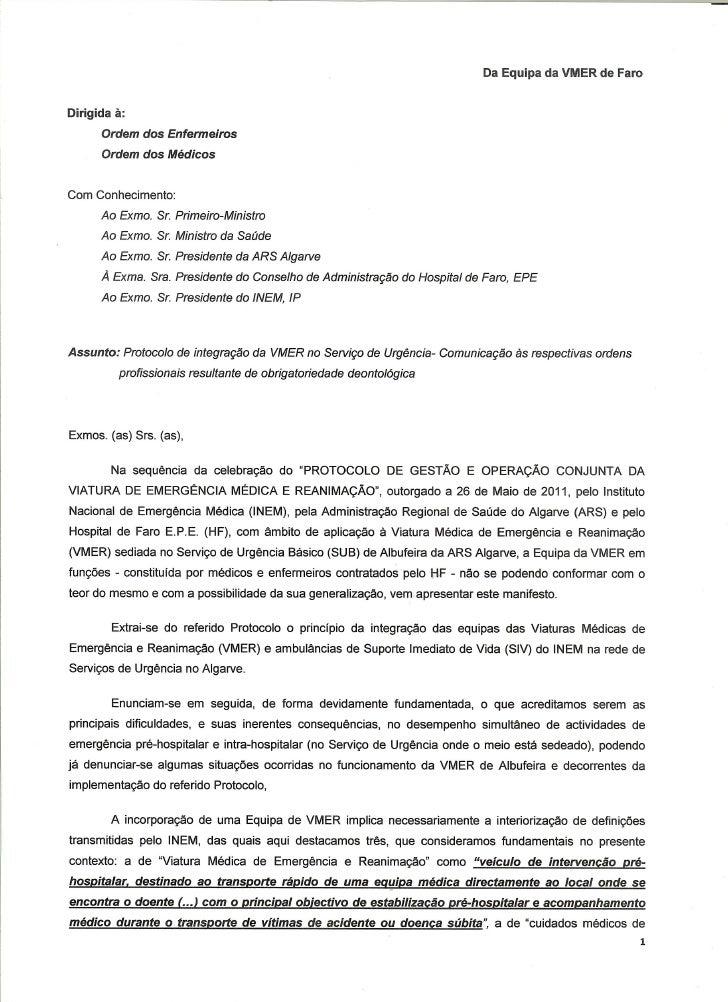 Médicos e Enfermeiros juntos, contra as políticas do INEM!