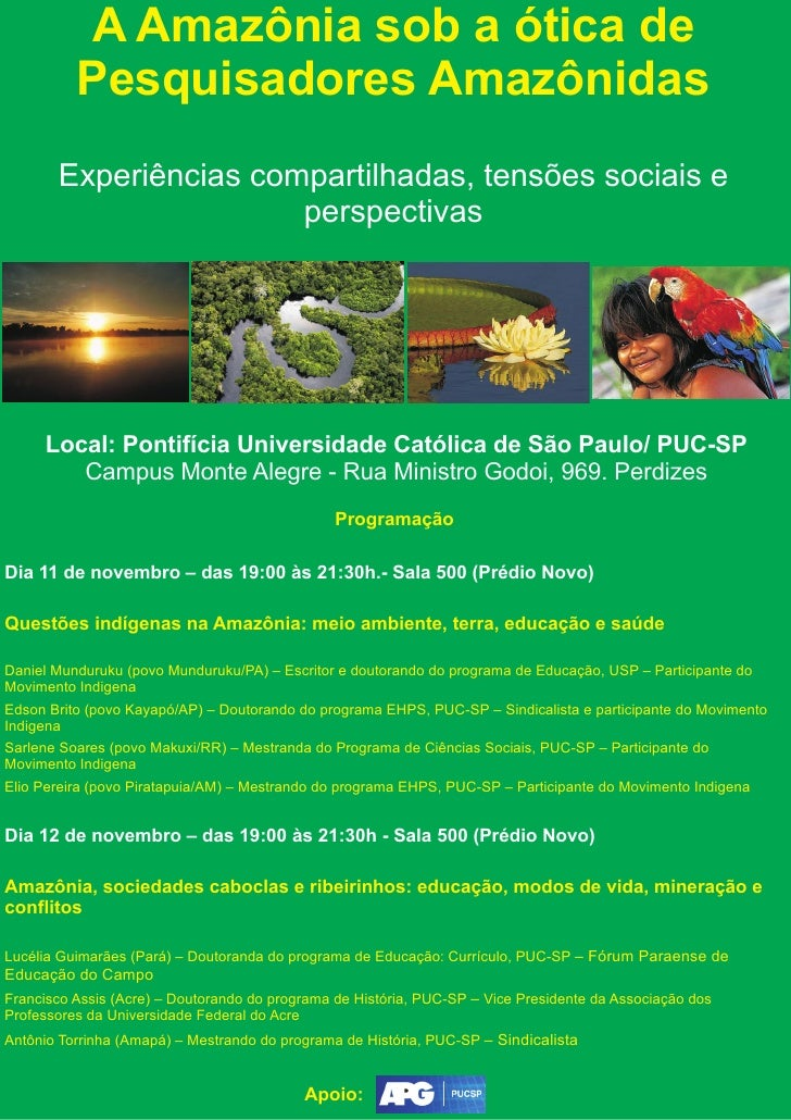 A Amazônia sob a ótica de Pesquisadores Amazônidas Experiências  compartilhadas, ... 06673336d8
