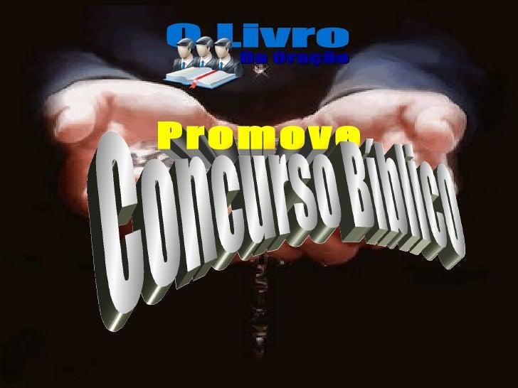 Promove Concurso Bíblico