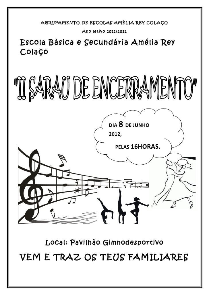 AGRUPAMENTO DE ESCOLAS AMÉLIA REY COLAÇO                  Ano letivo 2011/2012Escola Básica e Secundária Amélia ReyColaço ...