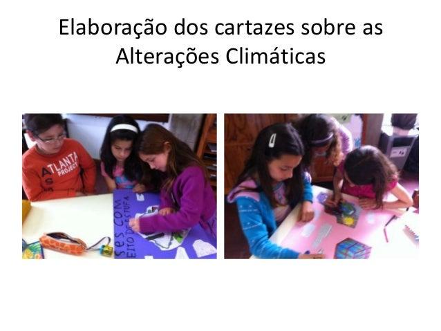 Elaboração dos cartazes sobre as Alterações Climáticas