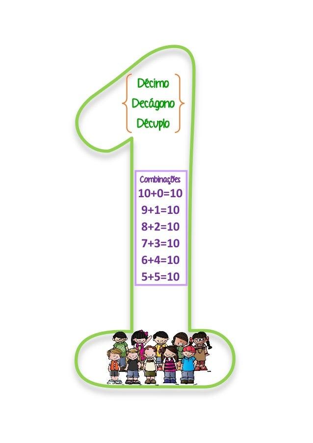 Décimo Decágono Décuplo Combinações 10+0=10 9+1=10 8+2=10 7+3=10 6+4=10 5+5=10