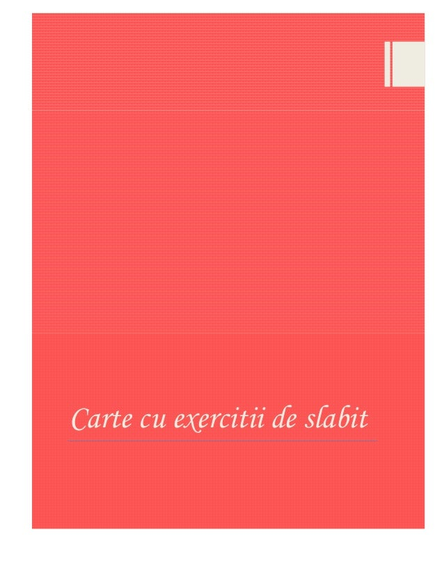 Carte cu exercitii de slabit