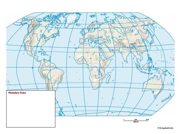 Cartina Muta Mondo Fisica.Carte Mute
