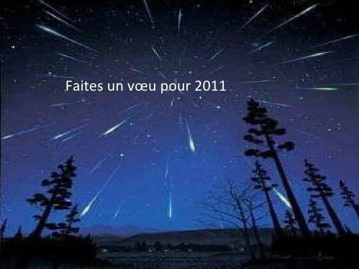 Faites un vœu pour 2011