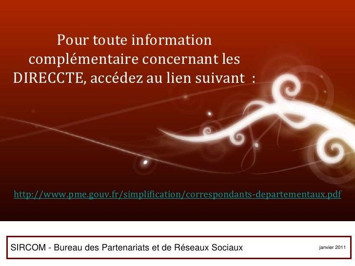 DIRECCTE RÉUNION 112 rue de la République 97488 Saint Denis cedex 02 62 94 07 07