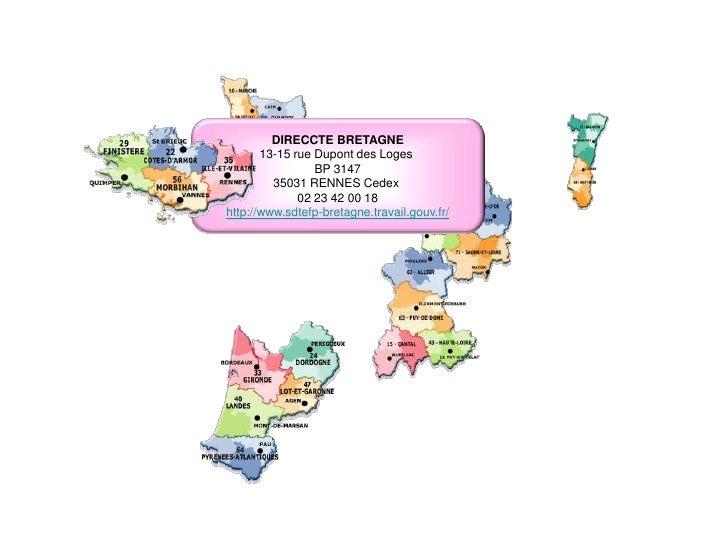 DIRECCTE BOURGOGNE 13 avenue Albert 1er Tour Mercure 21000 DIJON Cedex 03.80.76.99.10