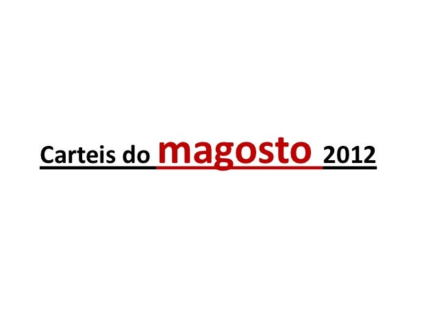 Carteis do   magosto 2012