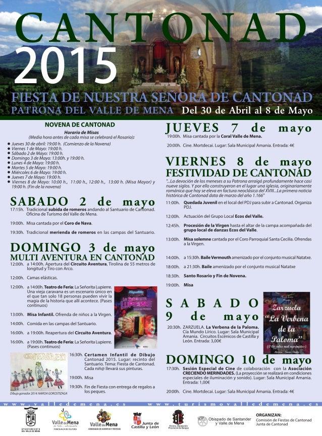 NOVENA DE CANTONAD  Horario de Misas (Media hora antes de cada misa se celebrará el Rosario):   s Jueves 30 de abril:  19:...