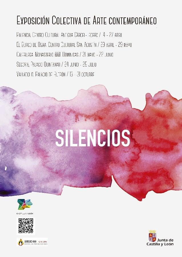 """Cartel Exposición """" Silencios"""" en Castilla y León"""
