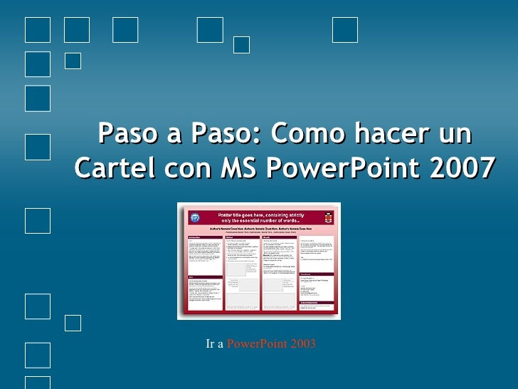 Cartel Con Power Point 2003 Amp 2007