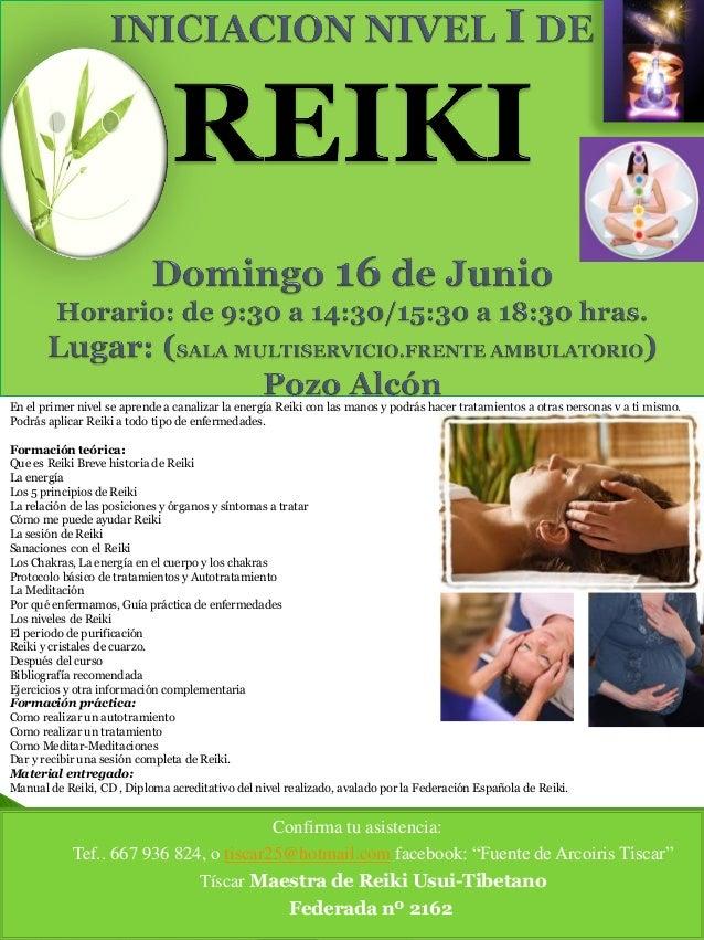 En el primer nivel se aprende a canalizar la energía Reiki con las manos y podrás hacer tratamientos a otras personas y a ...