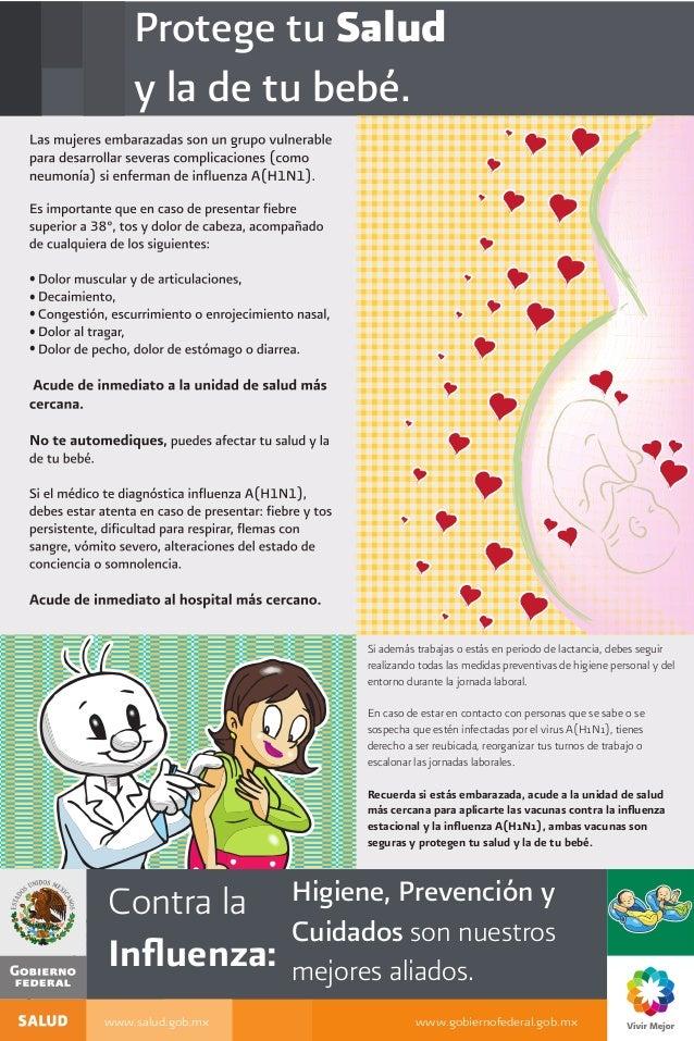 Protege tu Salud y la de tu bebé. Actualizado al: 04 de Junio www.salud.gob.mx www.gobiernofederal.gob.mx Contra la Influen...