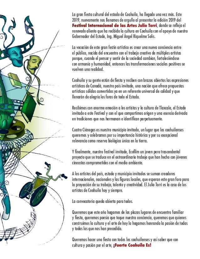 Cartelera Festival Internacional de las Artes Julio Torri 2019 Slide 2