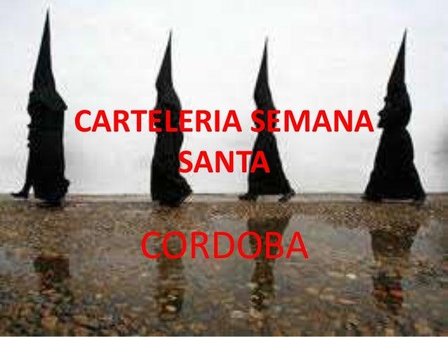 CARTELERIA SEMANA SANTA CORDOBA