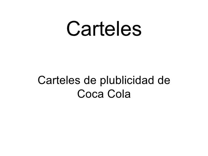 Carteles Carteles de plublicidad de Coca Cola