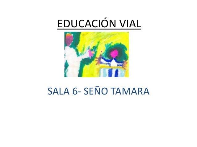 EDUCACIÓN VIAL  SALA 6- SEÑO TAMARA
