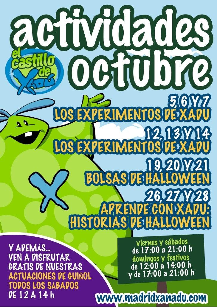 Actividades Castillo de Xadú Octubre 2012 - Madrid Xanadú