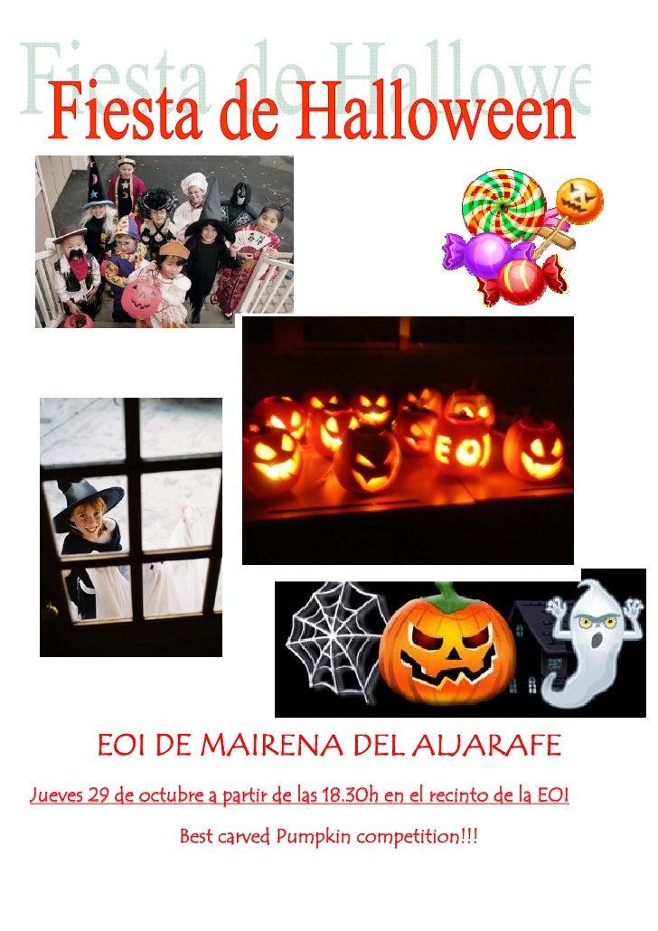 EOI DE MAIRENA DEL ALJARAFE Jueves 29 de octubre a partir de las 18.30h en el recinto de la EOI                    Best ca...
