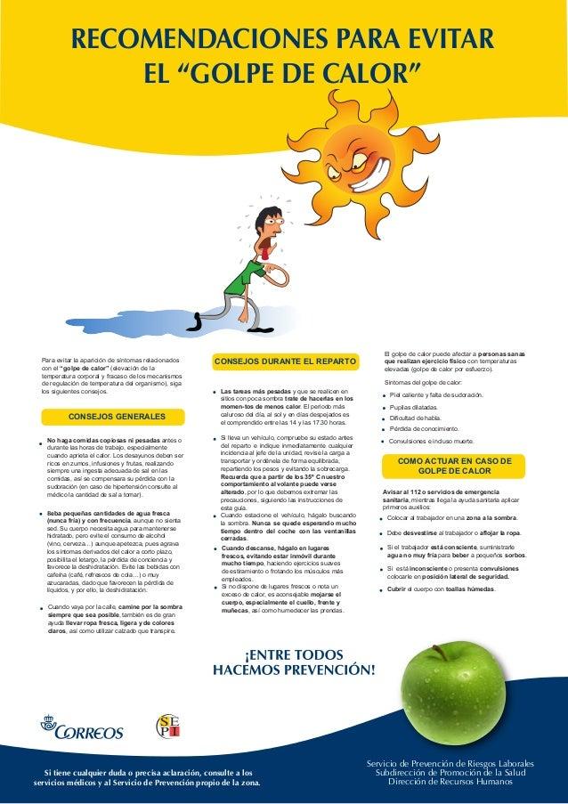 Servicio de Prevención de Riesgos Laborales Subdirección de Promoción de la Salud Dirección de Recursos Humanos RECOMENDAC...