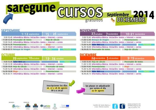 Cursos Saregune Septiembre-diciembre 2014