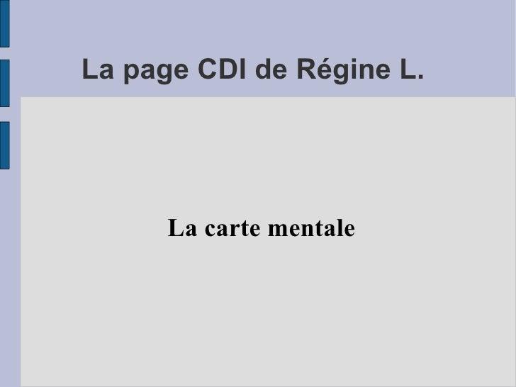 La page CDI de Régine L. La carte mentale