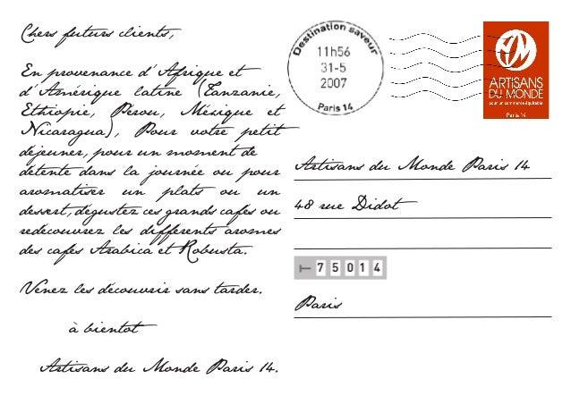 Carte Postale Cafe