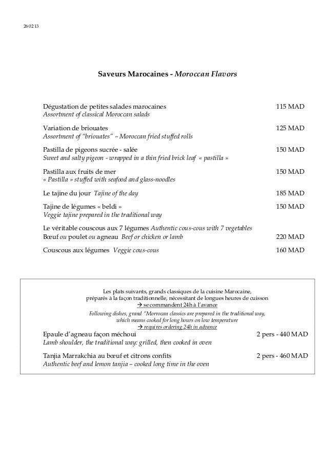 26 02 13                                Saveurs Marocaines - Moroccan Flavors           Dégustation de petites salades mar...