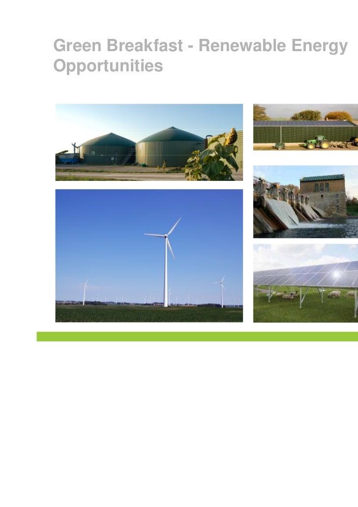 Green Breakfast - Renewable EnergyOpportunities
