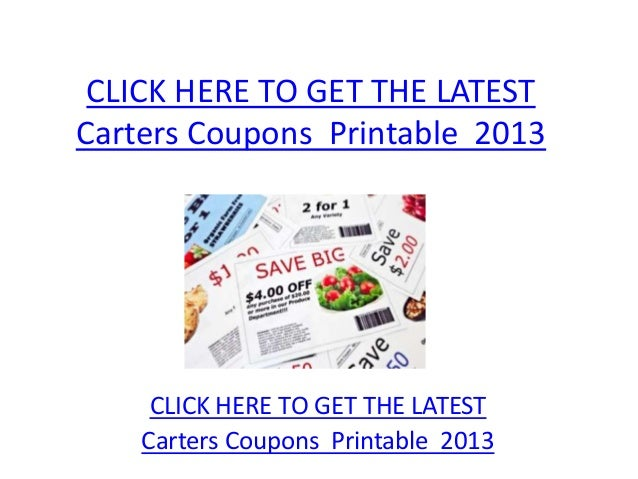 picture about Carters Printable Coupons titled Carters Discount coupons Printable 2013 - Carters Coupon codes Printable 2013