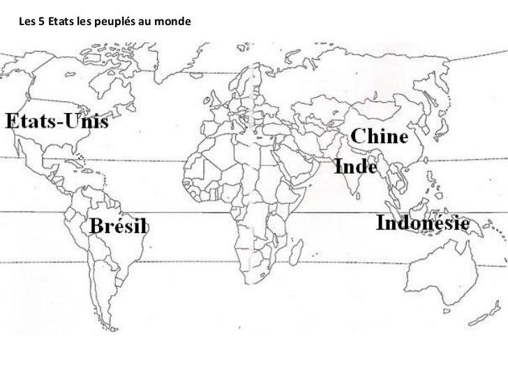 Les 5 Etats les peuplés au monde