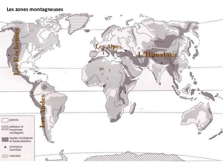 Les zones montagneuses