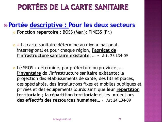 La Carte Sanitaire Et Sros Maroc