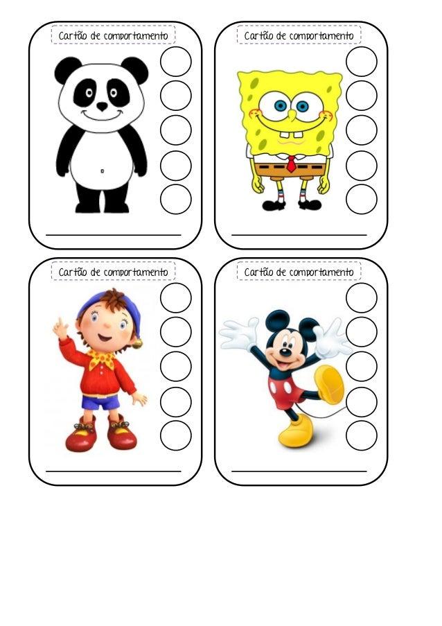 Cartões de comportamento Slide 3