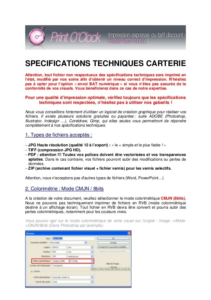 Imprimer Cartes De Visite En Ligne SPECIFICATIONS TECHNIQUES CARTERIEAttention Tout Fichier Non Respectueux Des Specifications Techniques Sera Imprime