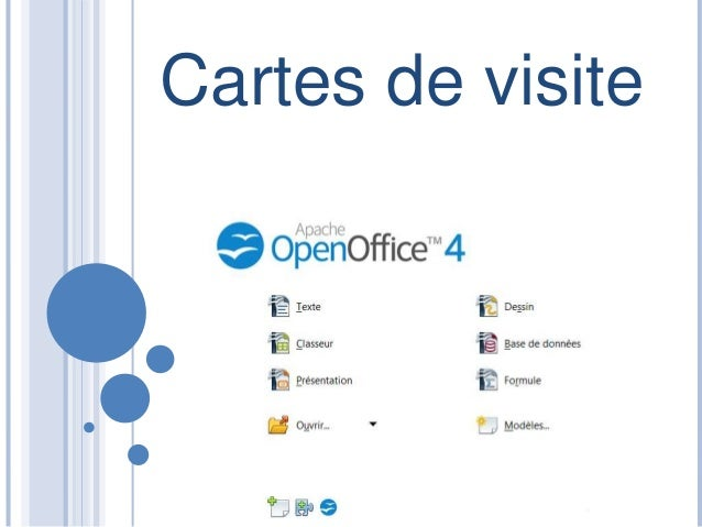 Cartes De Visites Open Office Visite