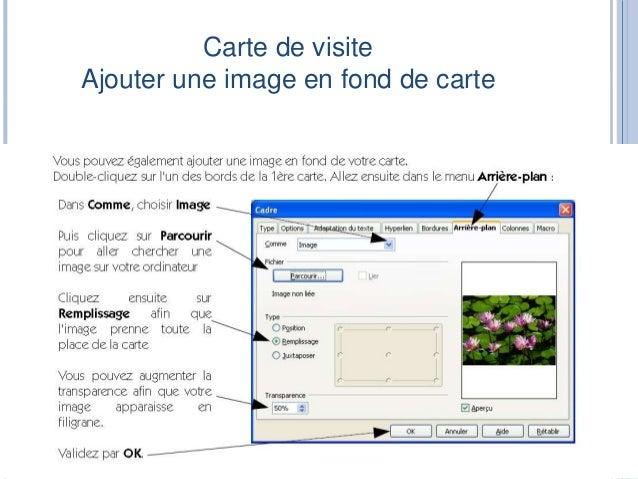Carte De Visite Aligner Un Texte Ou Une Image 16