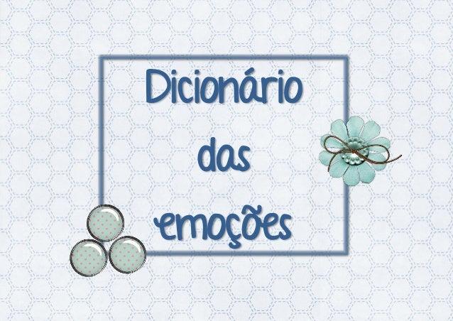 Dicionário das emoções
