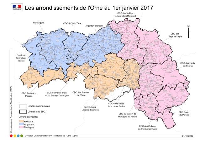 Cartes intercommunalités dans l'Orne