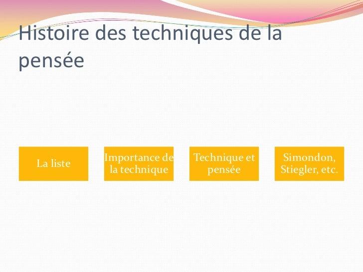 Histoire des techniques de la pensée<br />