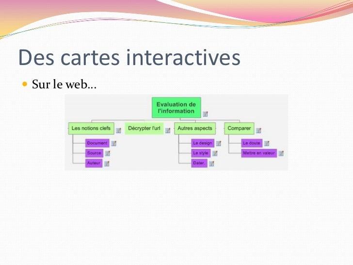 Des cartes interactives<br />Sur le web…<br />