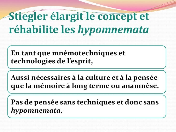 Cette troisième mémoire <br />le «processus d'extériorisation» montré par Leroi-Gourhan:<br />«(…) Leroi-Gourhan finit...