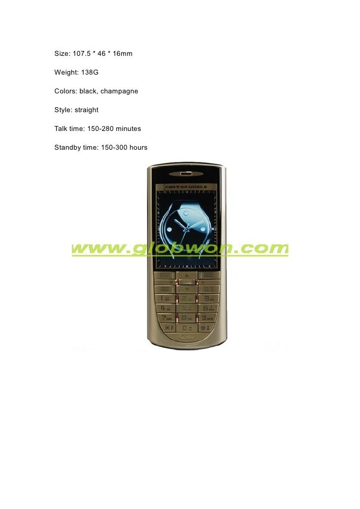 Cartier V6 Dual Sim Luxury Metal Mobile Phone