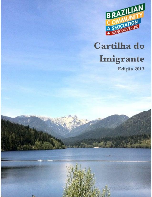 Cartilha do Imigrante Edição 2013