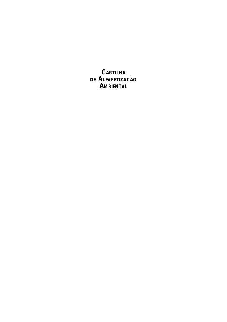 CARTILHADE   ALFABETIZAÇÃO     AMBIENTAL